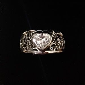 Estate Vintage Silver Plated Ring Size 7